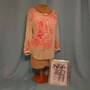 LAUREN CONRAD sheer blouse, Size S